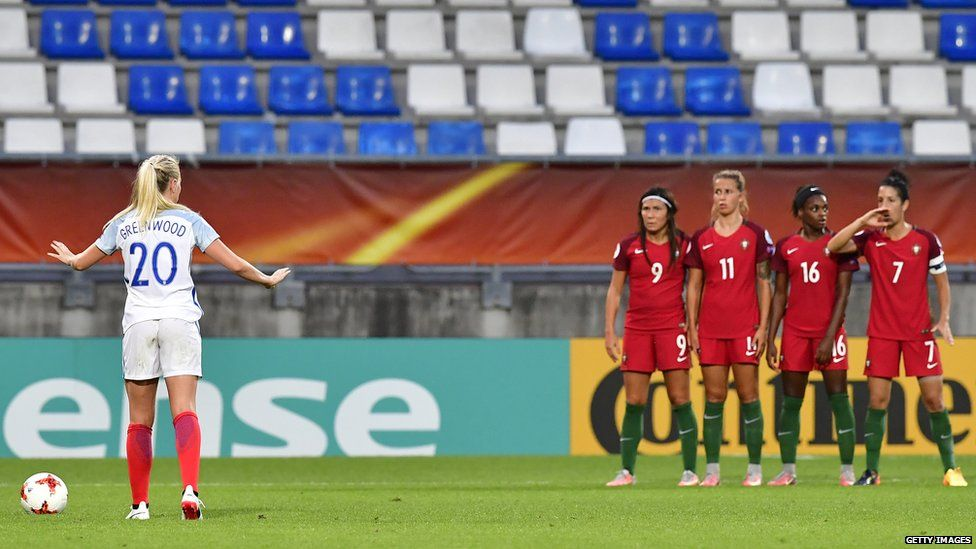 Alex Greenwood in action against Portugal in Euro 2017