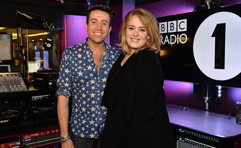 Nick Grimshaw and Adele