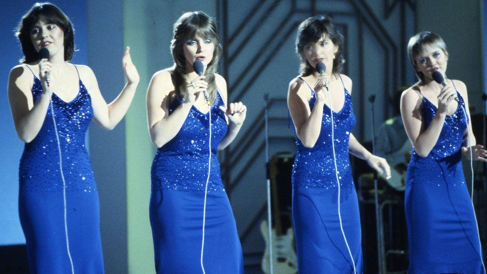 The Nolans performing in 1982