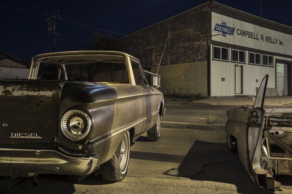 A car in garage