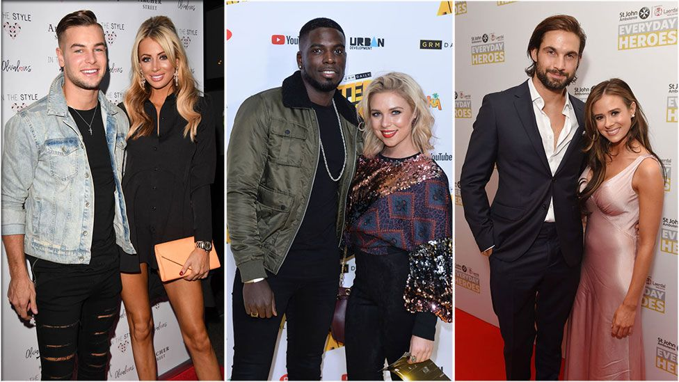 Chris Hughes and Olivia Attwood, Marcel Somerville and Gabby Allen, Jamie Jewitt and Camilla Thurlow