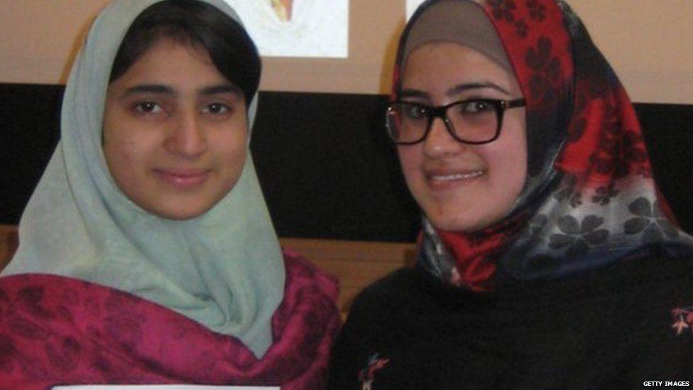 School friends of Malala, Shazia Ramzan (left) and Kainat Riaz were also injured in gun cross-fire on the school bus in 2012