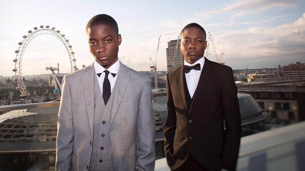 Tre and his twin brother Omar modelling