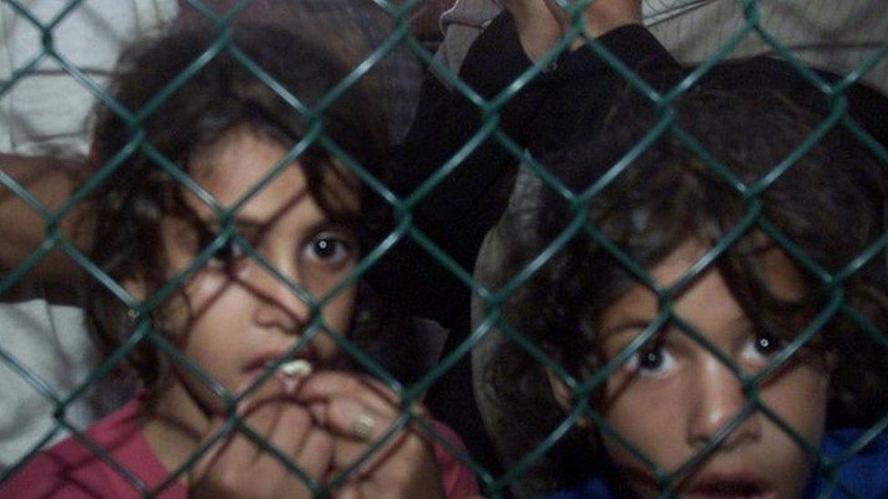Refugees arriving at Nauru Island