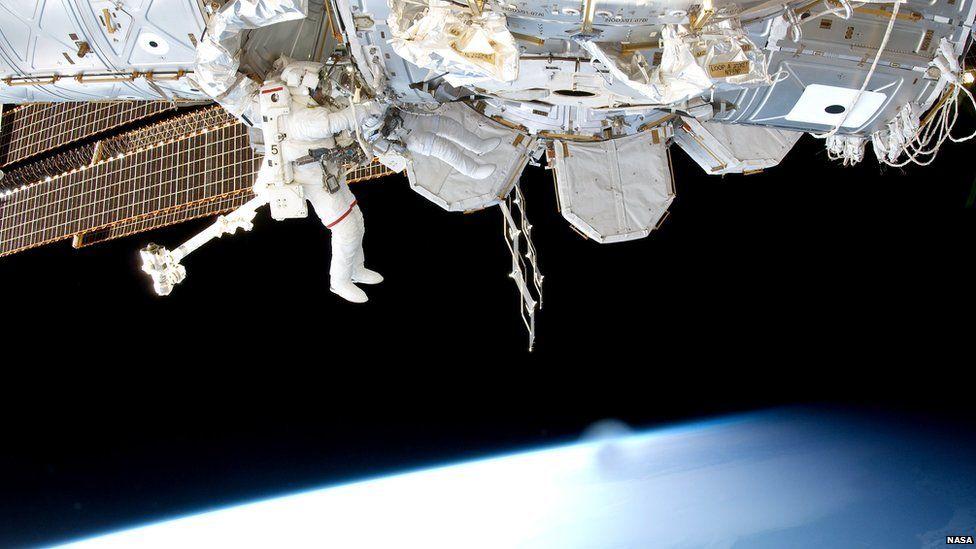 A spacewalk in 2011