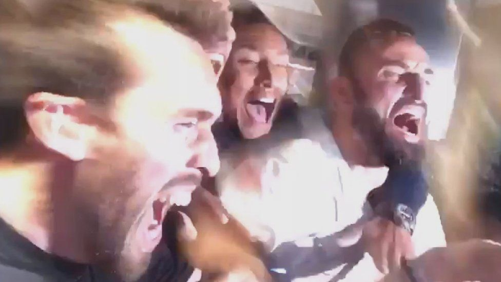 players celebrate
