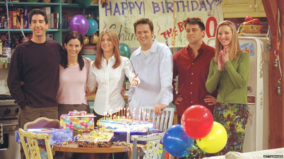 The six main characters of Friends