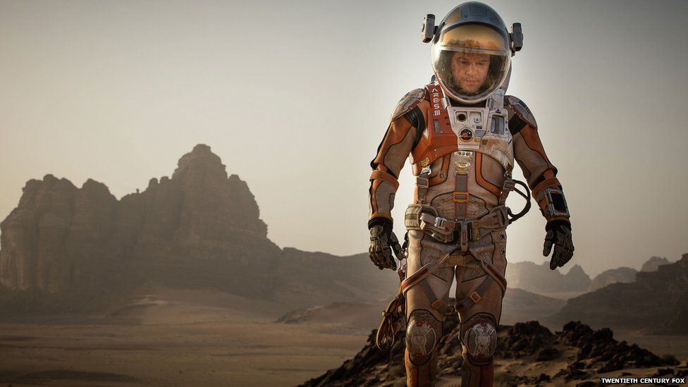 Matt Damon in a spacesuit