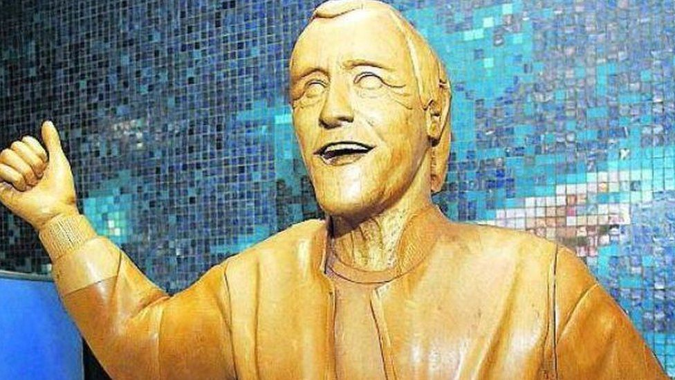 Jimmy Savile's statue was removed from Scotstoun Leisure Centre in Glasgow.