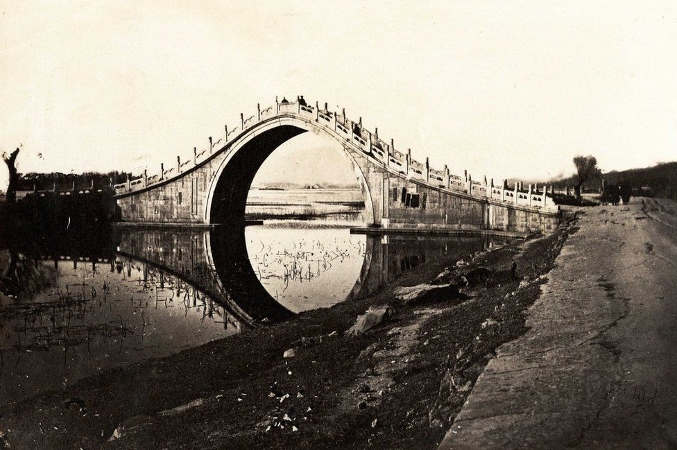 Thomas Child. No. 16. Bridge. 1870s. Albumen silver print.