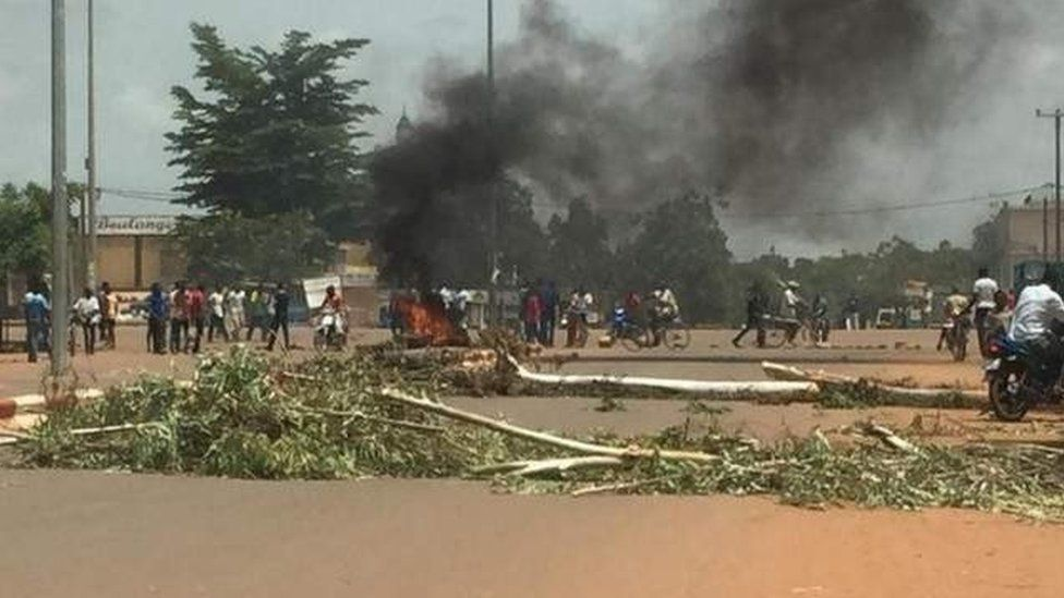 Protests in Burkina Faso's capital on 17 September 2015