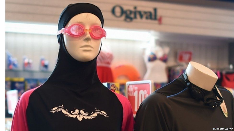 A Burkini on display at a shop