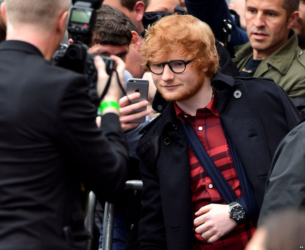 Ed Sheeran cycled home after fracturing bones in bike crash