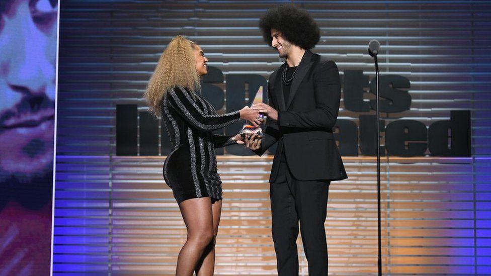 Beyonce Presents Colin Kaepernick With Sports Illustrated's Muhammad Ali Legacy Award