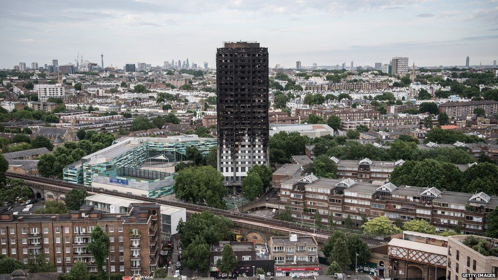 Ruins of Grenfell Tower