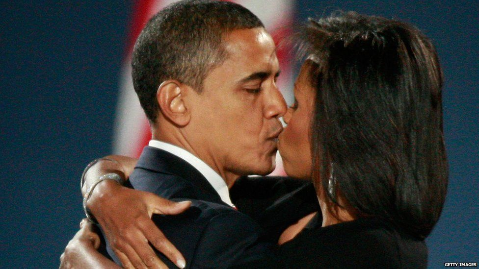US president-elect Barack Obama and his wife Michelle