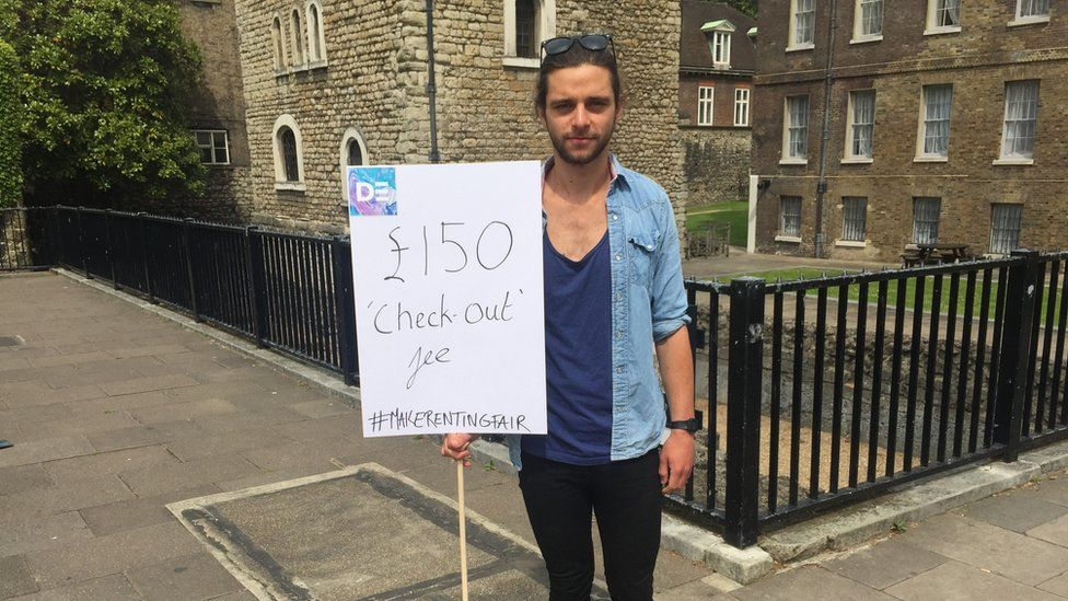 Ben had to pay a £150 check-out fee when he moved out of his rented flat.