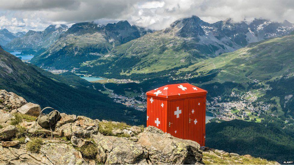 Toilet hut in Austria