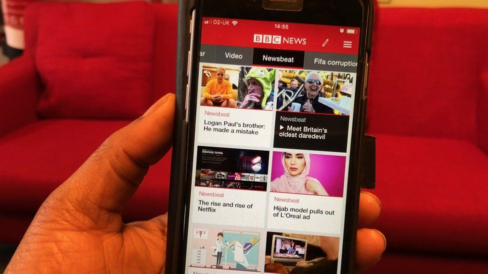 Newsbeat feed on BBC News app