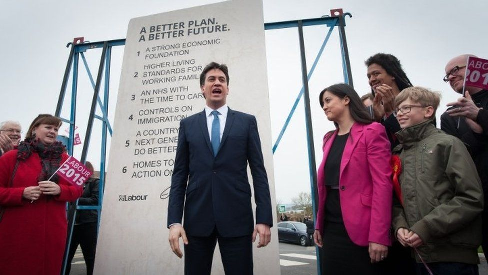Ed Miliband unveils what became known as the 'Ed Stone' in the run-up to last year's general election