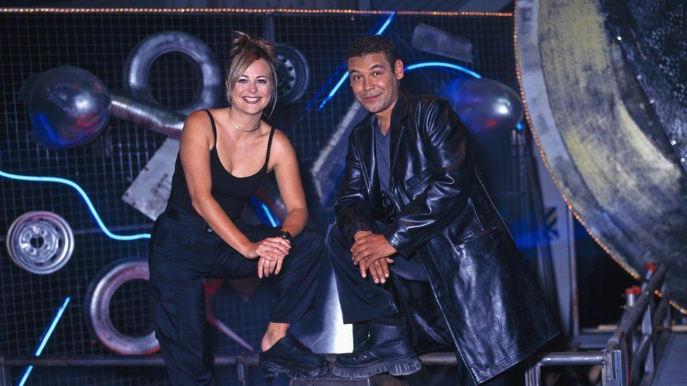 Robot Wars presenters Philippa Forrester and Craig Charles