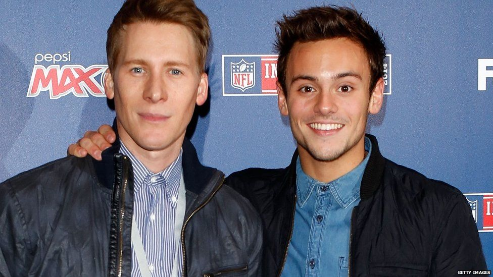 Dustin Lance Black and Tom Daley