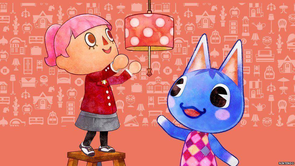 Cartoon characters changing a lightbulb