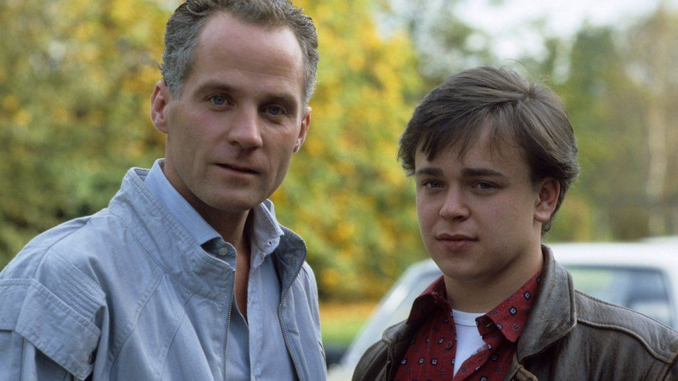 Michael Cashman as Colin Russell and Gary Hailes as Barry Clark