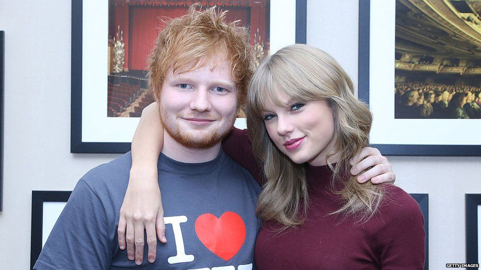 Taylor Swift with Ed Sheeran