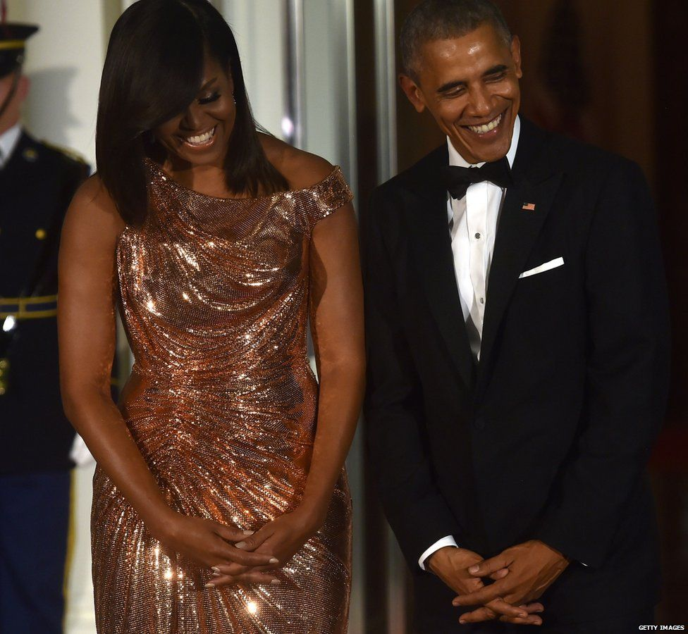 Michelle and Barack Obama host their final state dinner