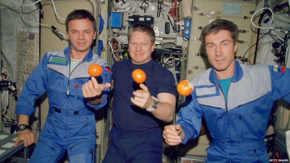 The crew of Expedition 1 in 2000