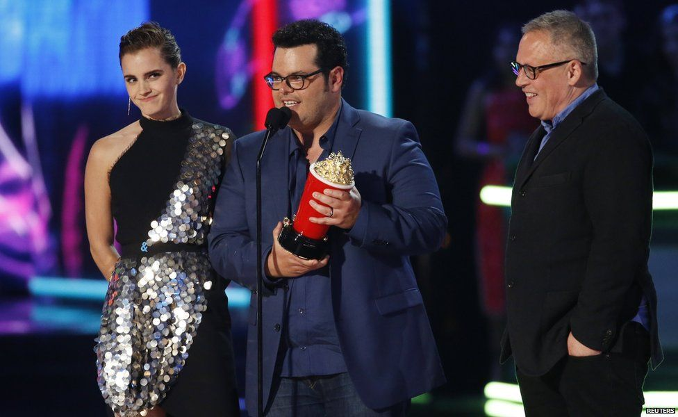 Emma Watson, Josh Gad and Bill Condon
