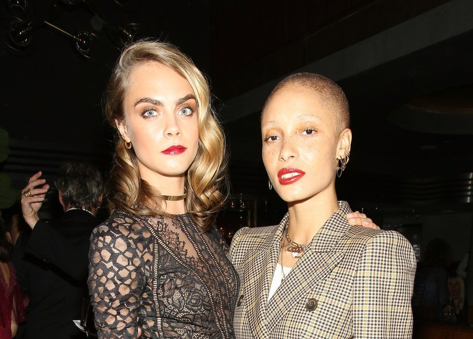 Adwoa Aboah and her long standing friend Cara Delevingne