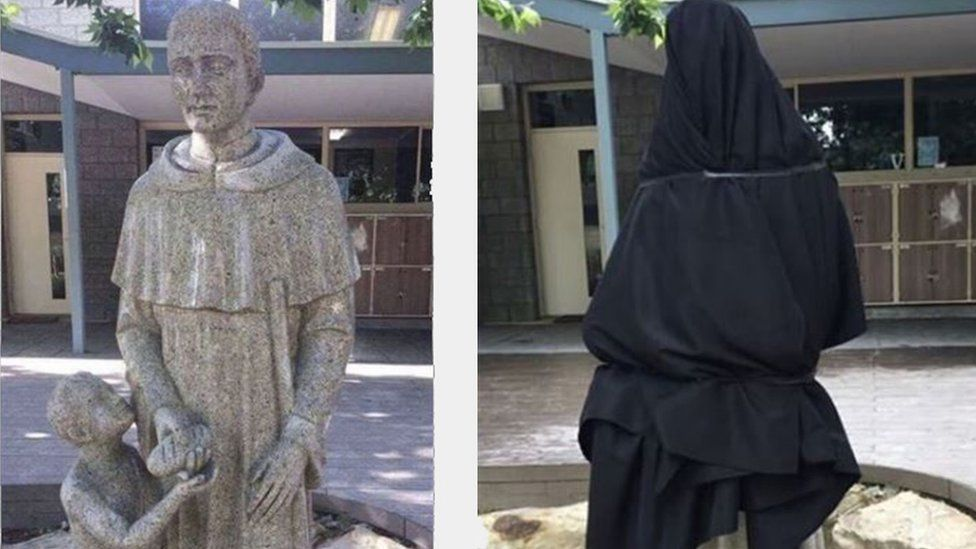 Australian Catholic School Forced To Cover Up An Accidental 'NSFW' Statue