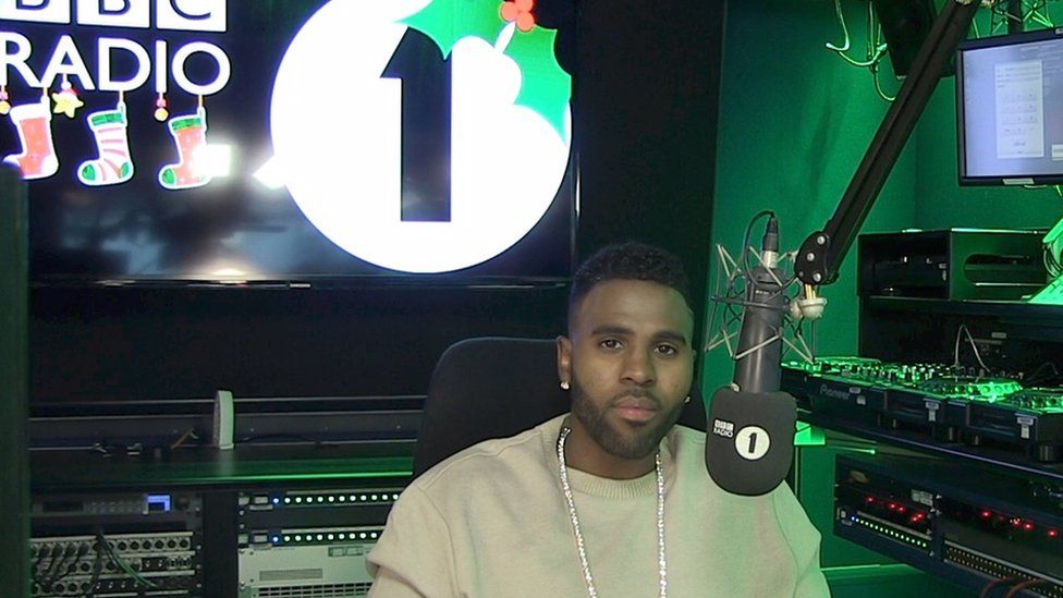 Jason Derulo in the Radio 1 studios