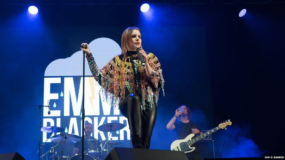 Emma Blackery on stage