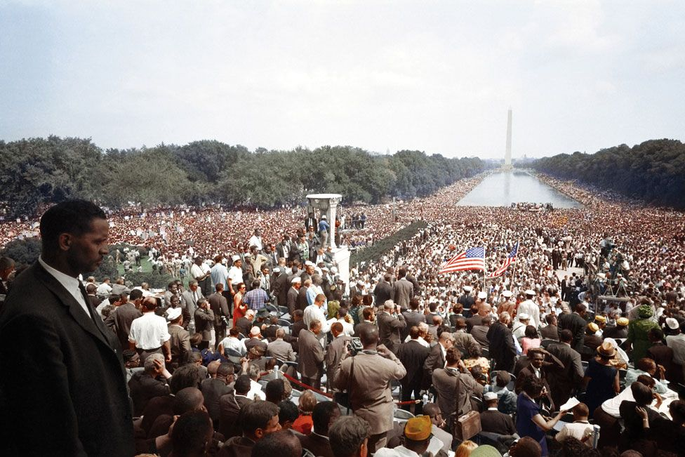 Marchers at the March on Washington