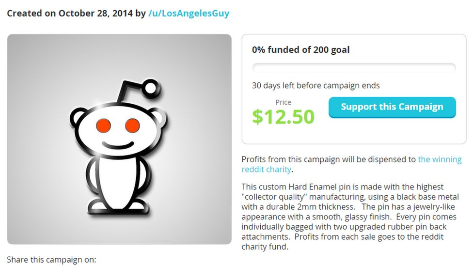 Reddit launches new crowdfunding site called Redditmade - BBC Newsbeat