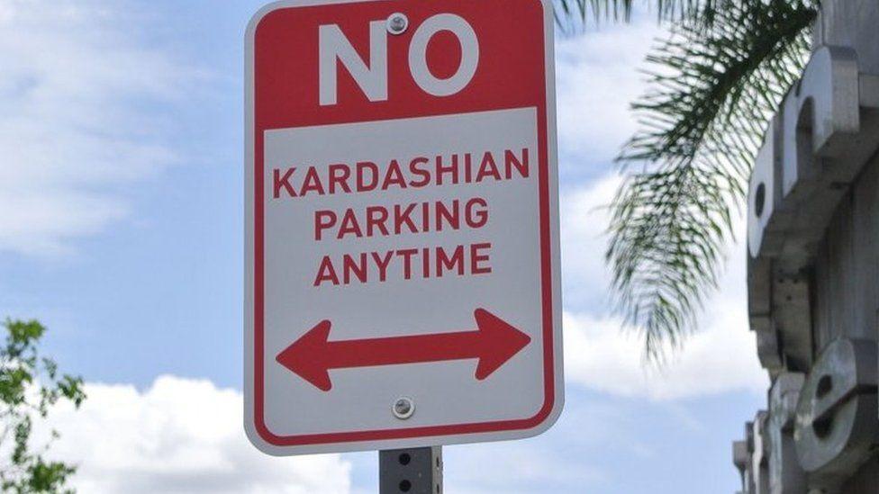 No Kardashian parking sign