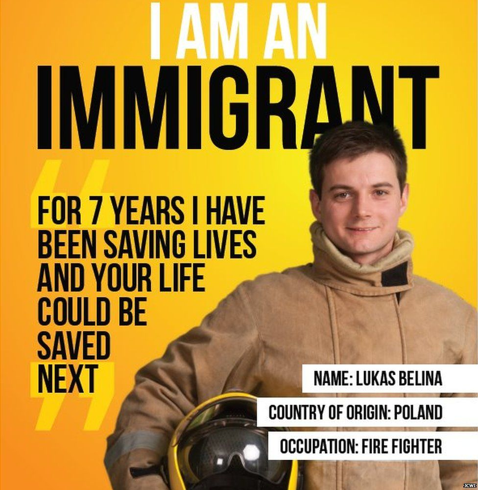 Pro-immigration poster campaign launches across the UK - BBC Newsbeat