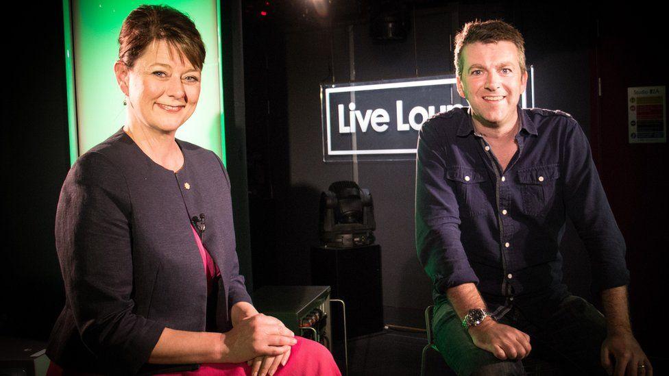 Plaid Cymru leader Leanne Wood with Newsbeat's Chris Smith