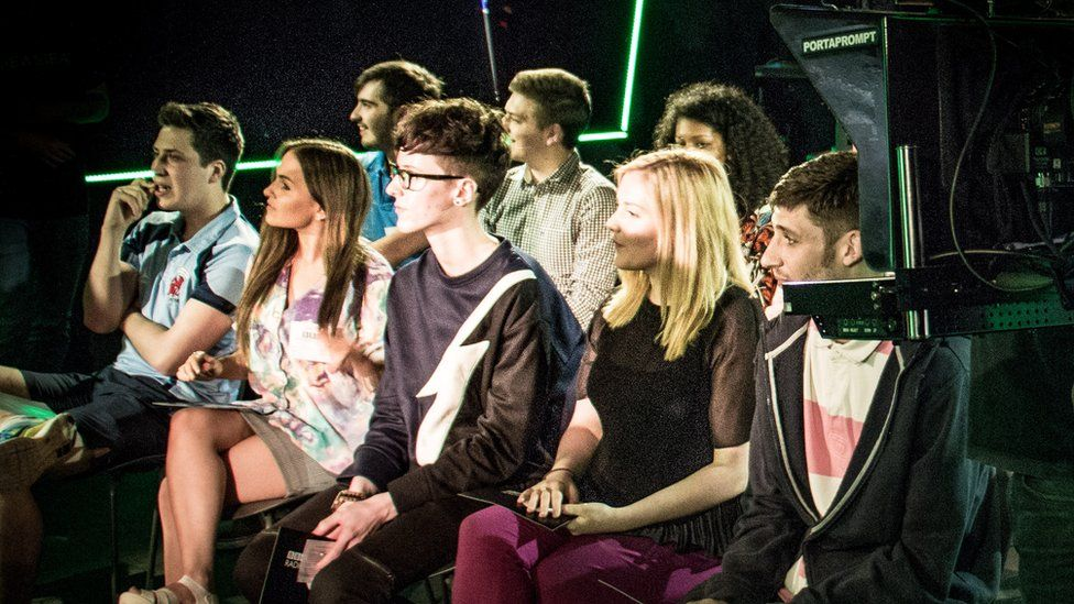The audience in the Live Lounge