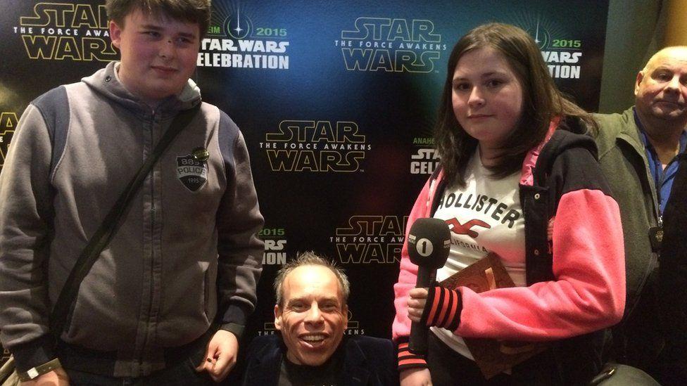Luke, Warwick Davies and Lauren