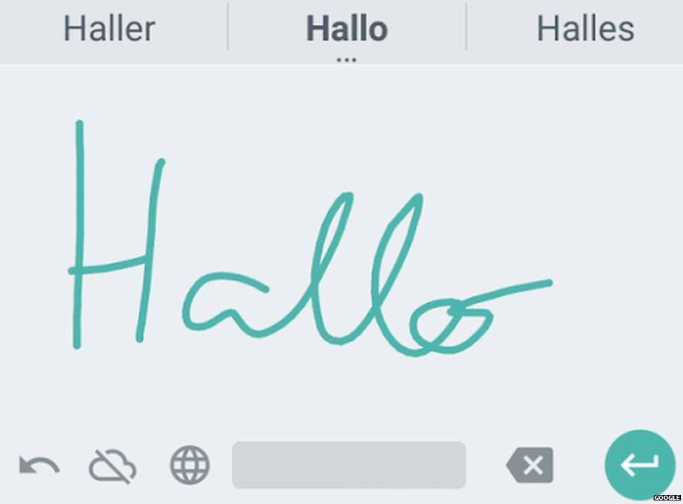 Google Handwriting app