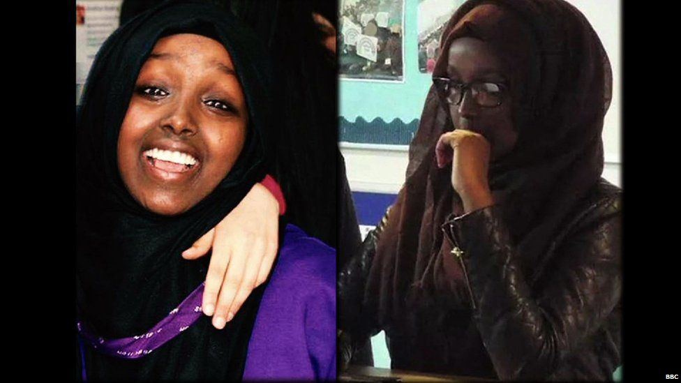 Zahra and Salma Halane before they left to join so-called Islamic State