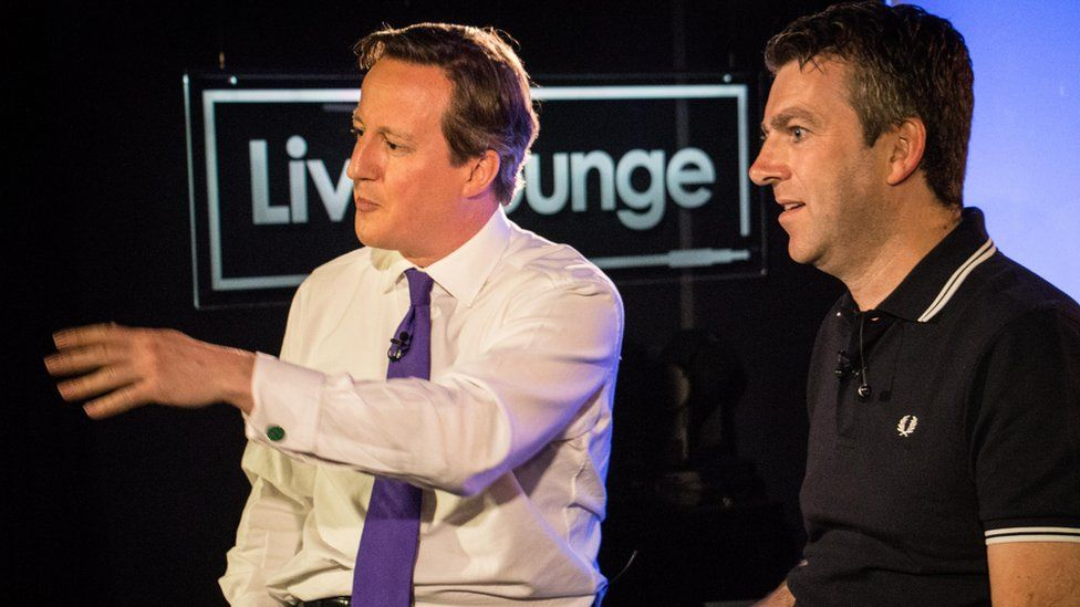 David Cameron with Chris Smith in the Live Lounge