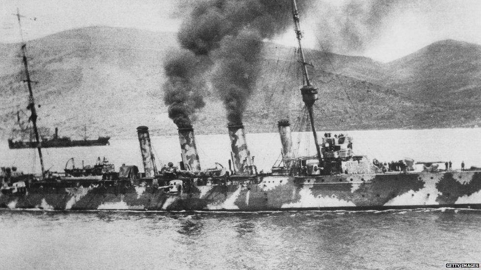 Navy ships in the Crimea