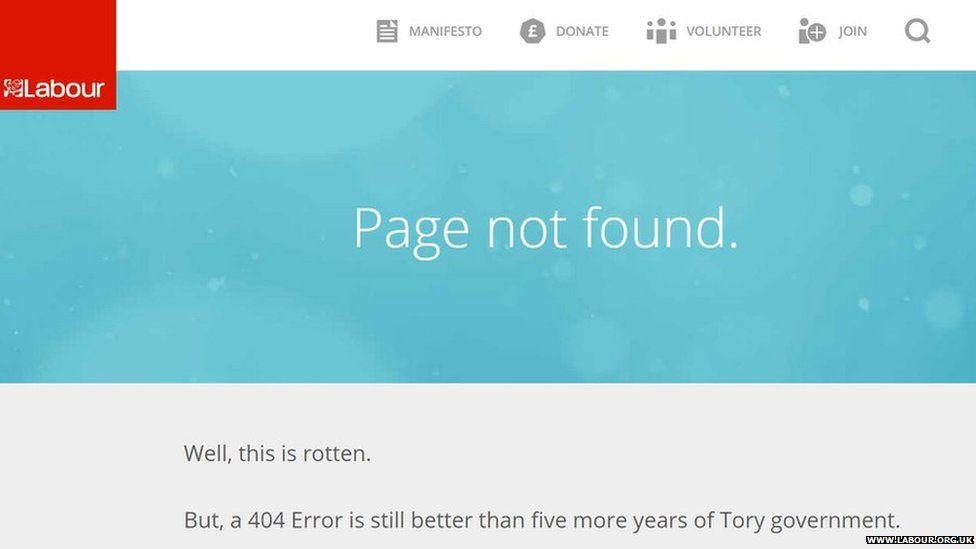 Labour party 404