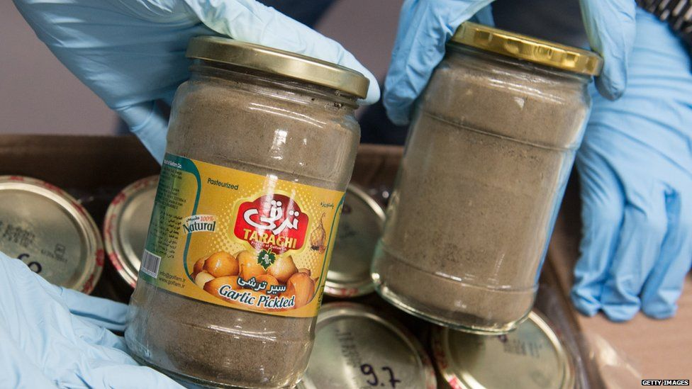 Drugs found in jars