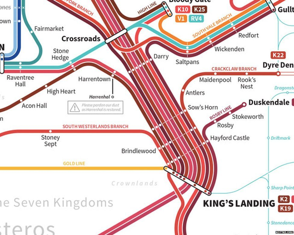 Westeros From Game Of Thrones Created On Google Maps By Redditor